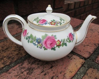 Tea Pot - Aynsley - English China - Individual Teapot - Breakfast Set - Vintage