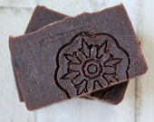 Chocolate and Rose Soap | Handmade and Natural | Vegan and Palm Free