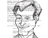 Christopher Nolan Screenplay Portrait (The Dark Knight)