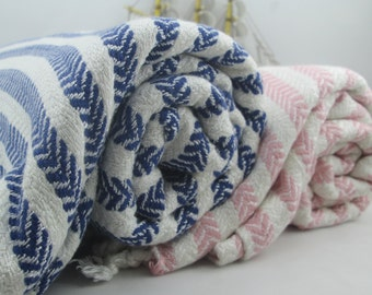 ON SALE SET of 2 pcs - Bamboo Peshtemal - Turkish towel, Birthday gift,Ultra Soft, Handwoven Peshtemal