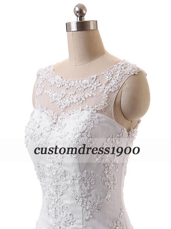 Exquisite Cap Sleeve Appliqued Tulle Wedding By