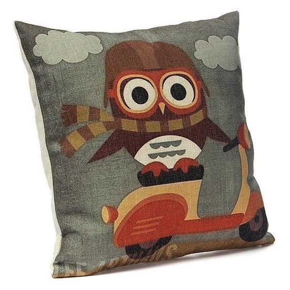 Cute Pillow Cases : Cute Owl Pillow Cover Owl Pillow cases Owl by TaikalandiaShop