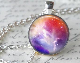 CARINA NEBULA Necklace Pendant Space Hipster Nebula Jewerly Carina Galaxy Universe Orion Geekery geek necklace Astronomy necklace