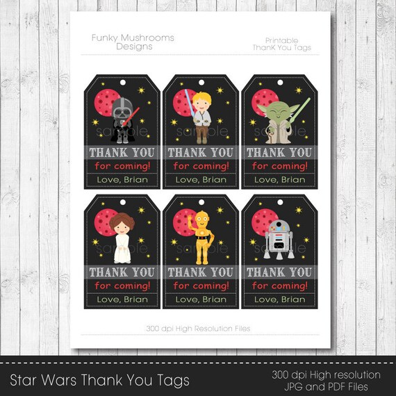 Tactueux image in star wars thank you cards printable free