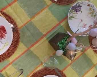 Marimekko style green fabric