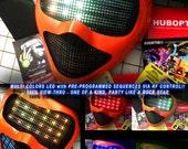 Light Up Mask LED Flash Cyborg / LED Robot Mask Orange-C for Cyber Scifi Robot Ai Costume Dance EDM Helmet alien Cosplay edc Rave Gigs Party
