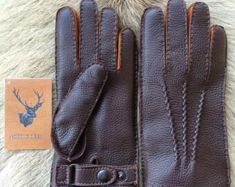 Men's  Leather Gloves - Deerskin Leather Glove -Fancy Gloves