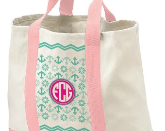 Monogrammed Tote Bag, Beach Bag, Personalzed Bag, Birthday Gift Bag, Bridal Shower Tote Gift