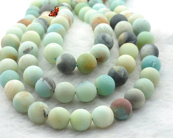 Amazonite Matte Round beads 12mm,32 pcs