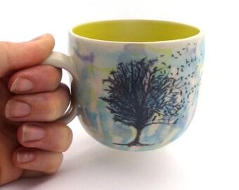 Jane Austen Quote Mug | Wheel thrown | Ceramic | Pottery | Yellow