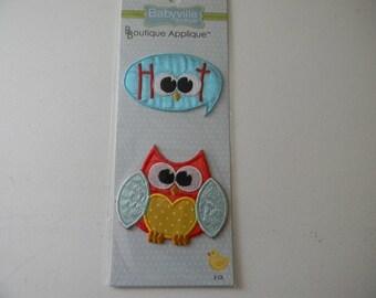 Babyville Boutique Appliques 2/Pkg-Owl & Hoot