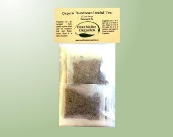 Hawthorn Tea Herbalist Prepared From Certified Organic Herbs