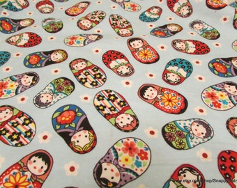 Flannel Fabric - Dolls - 1 yard - 100% Cotton Flannel