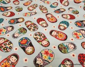 Flannel Fabric - Dolls - 1 yard - 100% Cotton Flannel