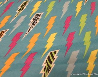 Flannel Fabric - Wild Lightning - 1 yard - 100% Cotton Flannel