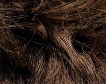 Fur Yarn, Koala, Lanas Stop, Brown, Black Flecks, Faux Fur