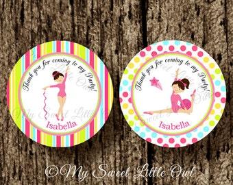 Gymnastics Cupcake Topper - Gymnastics Birthday - gymnastics tag - Gymnastics printable - gymnastics sticker - gymnastics label