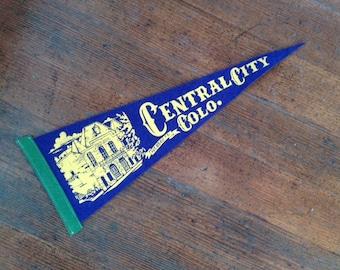 Vintage Felt Souvenir Pennant, Central City Colorado (Opera House)