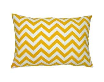 Pillowcase zig zag lines structure CHEVRON 40 x 60 cm yellow white