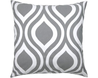 Cushion cover 50 x 50 cm grey white EMILY