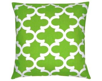 Grid Bob Green-and White Cushion cover 50 x 50 cm
