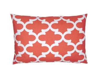 Bob coral white cushion cover 40 x 60 cm