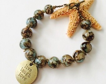 Live, Love & Laugh Bracelet.