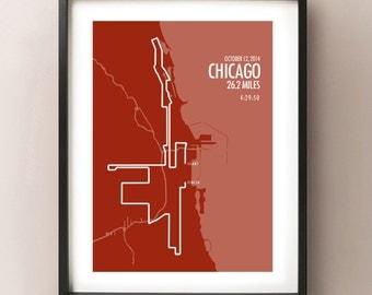 Chicago Marathon Print 2014