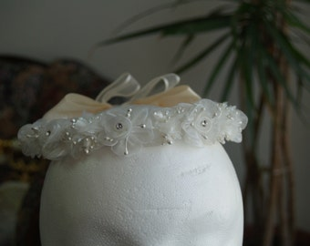 Communion Flower crown IVORY or WHITE - flower girl crown white or Ivory # 2