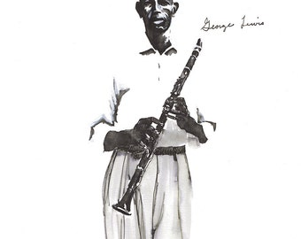 Limited Edition Print of New Orleans Jazz Legend, George Lewis