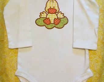 """6-12 months """"Duckie baby"""" long sleeve onesie"""