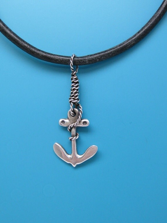 s anchor necklace sterling silver anchor by