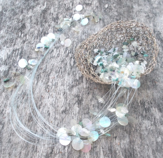 Knitting Pattern For Jellyfish : Jellyfish Knitted/Twisted Sterling Silver Wire with