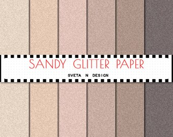 Glitter Digital Paper - Pattern Background Texture Overlay - Instant Download - Sandy Glitter