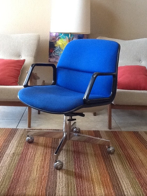 vintage mid century modern swivel office chair by all steel. Black Bedroom Furniture Sets. Home Design Ideas