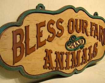 Bless Our Farm and Animals, Rustic Sign, Farm Sign, Livestock, Show Animals, Stock Show, Vintage Sign, Shabby Sign, Steer, Heifer,