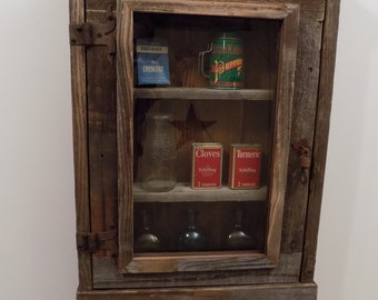Rustic reclaimed medicine Cabinet choice of  Mirror, Mesh or Glass