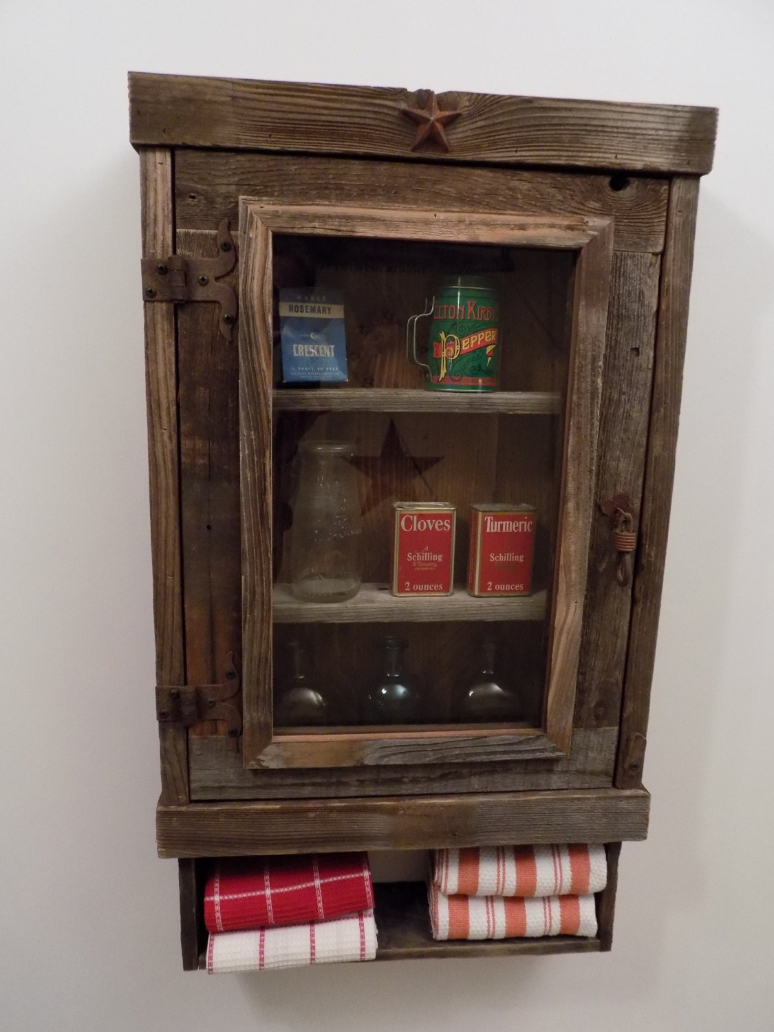 Rustic Reclaimed Medicine Cabinet Choice Of Mirror Mesh Or