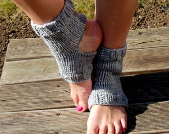 Hand Knit Yoga Socks, Knitted Dance Socks, Knitted Spats, Knitted Yoga Wear, Knitted Socks For Pedicure