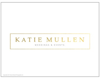 Premade Gold Foil Classy Modern Photography or Business Logo Design