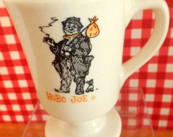 "Vintage 'Hobo Joe' footed mug.   Sterling, Made in USA, K4,        5 "" tall."