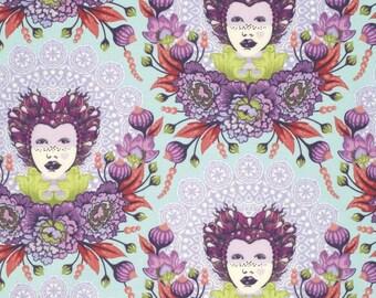 1/2 Yard - Elizabeth - 16th Century Selfie - Plum - Tula Pink - FreeSpirit - Fabric Yardage - PWTP062.PLUMX
