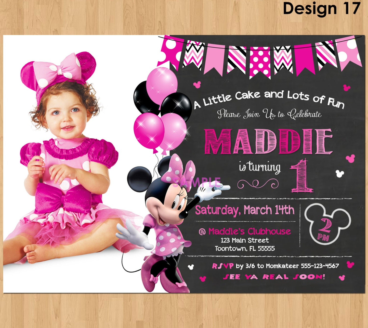 Minnie Mouse First Birthday Invitation – orderecigsjuice.info