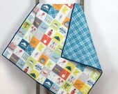 Baby quilt – Minnesota patchwork - modern, handmade, unique, plaid, paddles, state, mn, wood grain, typography, custom, play mat