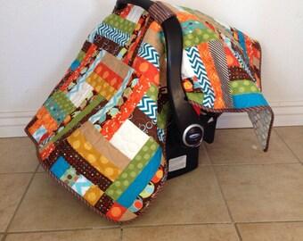 Car Seat Canopy, elephant, dragonfly, chevron, polka dot