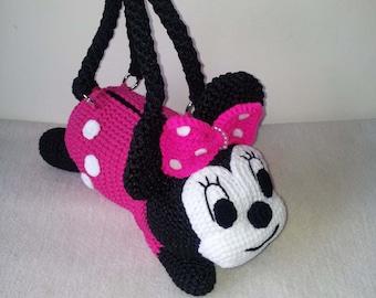 Minnie Mouse  Handmade crochet handbag  birthday gift, christmas gift,perfect to every girls.