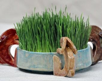 Handmade Rabbit Planter or Centerpiece