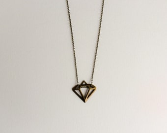 Necklace diamond bronze