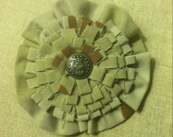 Air Force Button Flower Pin
