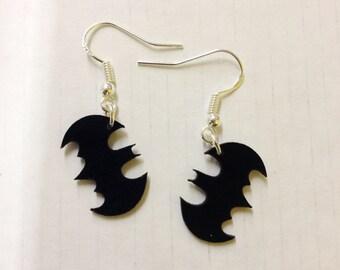 Vinyl Record earrings, Batman earrings!
